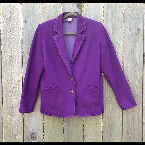 Vintage purple Graff 70s jacket-XL